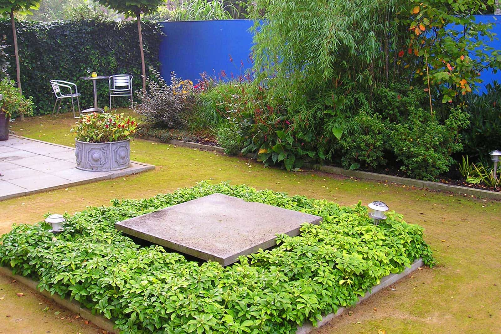 Tuin Met Blauwe Wand Amsterdam 1